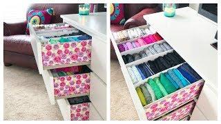 Video How I Organize & Embellish My Dresser // Konmari Drawer Organization & DIY Dividers MP3, 3GP, MP4, WEBM, AVI, FLV Agustus 2019