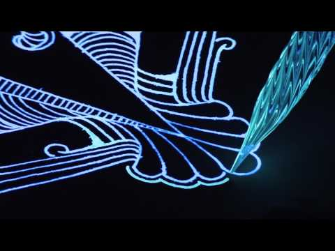 Creating Art with Glowing Paint