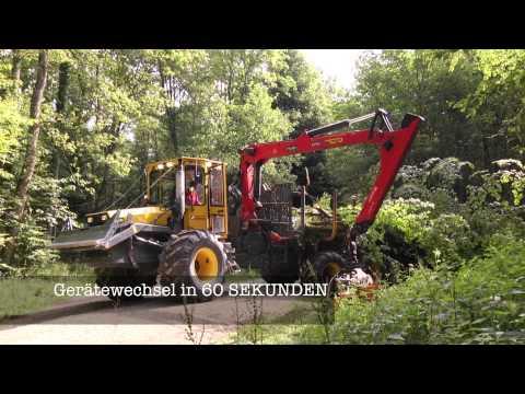 Keller Forstmaschinen mit ROKE Schnellwechsler