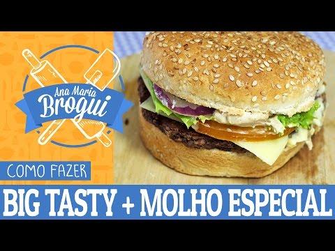 Receitas Salgadas - COMO FAZER O BIG TASTY COM MOLHO ESPECIAL DO MCDONALDS  Ana Maria Brogui # 77
