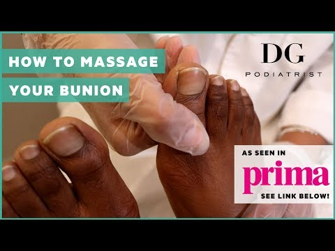 How to massage your bunion