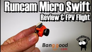 """Today, we get the small, but perfectly formed, RunCam Micro Swift out of the box and stick it in a plane to test.This camera was kindly provided for review by Banggood.com.  Here are the (affiliate) links to the product and some flash deals:The RunCam Micro Swift - http://bit.ly/2spU61bBanggood latest flash deals - http://bit.ly/2rvzErfThe RTF Volantex Super Cub I used is here - https://www.banggood.com/Volantex-2_4G-4CH-V765-2-765-2-Super-Cub-750mm-Sport-Park-Flyer-RTF-With-Gyro-p-1143302.html?p=E81211714085201408XQThe camera did a great job in my opinion.  There's some distortion from the very wide 2.1mm lens, but not in that very off-putting warping way that the tiny AIO cams tend to do it.  I would like to see if the horizon """"bulging"""" thing is sorted by using a 2.3mm lens, but for my next test I'll get this onto a quad and see how it performs."""