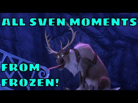 All Sven Moments from Disney Frozen - Funny Scenes! Reindeer's Are Better Than People!