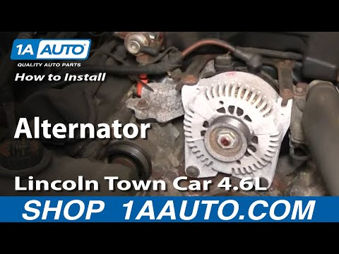 How to Install Repair Replace Alternator Lincoln Town Car 4.6L 98-02 1AAuto.com