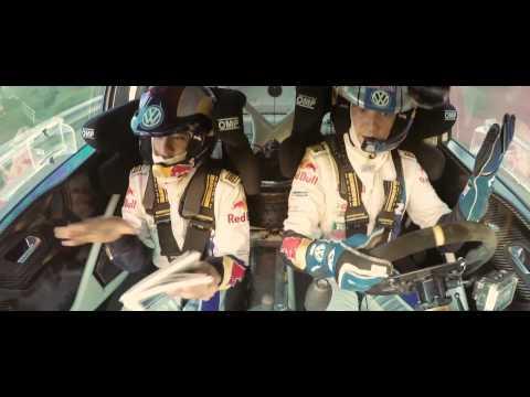 Neymar Jr. co-drives with Sébastien Ogier 2014/ Spain, Barcelona/ WRC