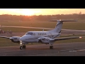 Beech B200 King Air G-PCOP - Beautiful sunset departure - Gloucestershire Airport