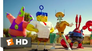 The SpongeBob Movie: Sponge Out of Water (2015) - Butt Kicking Scene (7/10) | Movieclips