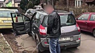 """""""Ja pi*rdole nie rób mi jaj!"""" Ziomek złapał pijanego typa który rozwalił mu auto!"""