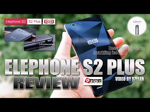 "Elephone S2 Plus (Quick Review) 5.5"" Deep Sapphire Blue, 6.9mm thin, Diamond back texture, 2.5D Arc"