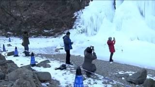 Вода, которая не течёт: в Китае из-за сильных морозов застыл водопад