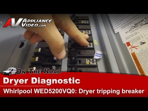 Whirlpool, Kenmore Dryer voltage problem, breaker tripping  & not heating WED5200VQ0