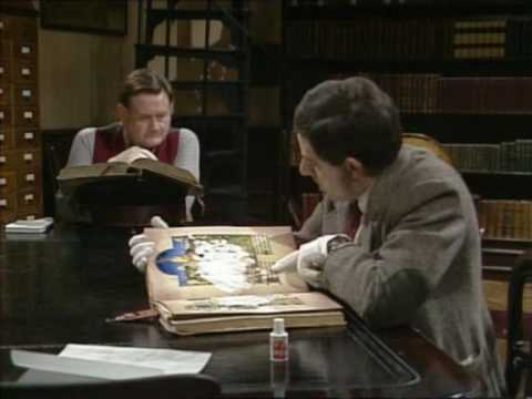 Mr Bean in Library.