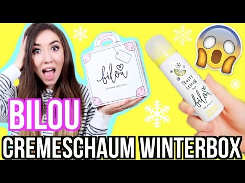 BILOU Cremeschaum BOX KOFFER (Frosty Lemon Bodylotions) - UNBOXING / auspacken + LIVE TEST