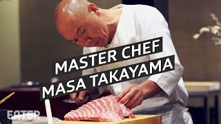 Rarely does chef Masa Takayama of Manhattan sushi shrine Masa allow cameras into his restaurant. But Eater's Kat Odell scored a seat at his bar to taste ...