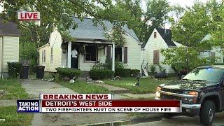 2 Detroit firefighters hurt Wednesday morning