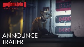"""Watch the cutdown of our E3 2017 reveal trailer for Wolfenstein II: The New Colossus! Learn about The New Colossus at https://beth.games/2sniil7Proving that you can't keep a good gun-totin', hatchet-wieldin', Nazi-killin' badass down, BJ Blazkowicz is back in Wolfenstein II: The New Colossus. The sequel to the critically acclaimed shooter from award-winning studio MachineGames was announced at the Bethesda E3 2017 showcase.Set in America in 1961, The New Colossus will take BJ (dubbed """"Terror-Billy"""" by the Nazis) from post-nuclear Manhattan to small-town Roswell to the flooded streets of New Orleans and beyond, as he leads the Resistance against the Nazi occupation of his beloved country. Prepare for the adventure by watching our debut trailer.Wolfenstein II: The New Colossus will release on October 27, 2017 for Xbox One, PlayStation 4, and PC. For more information, follow these channels: Official Site - beth.games/WolfensteinFacebook - https://facebook.com/wolfensteinTwitter – Twitter.com/wolfensteinInstagram – Instagram.com/wolfensteinESRB RATING PENDING: May contain content inappropriate for children. Visit www.esrb.org for rating information.""""Danke Schoen"""" as performed by Wayne NewtonCourtesy of Capitol Records, LLC  under license from Universal Music EnterprisesLyrics: Kurt Schwabach & Milt Gabler Music: Bert Kaempfert (c) 1962 Renewed 1990 TONIKA-VERLAG HORST BUSSOW and                      SCREEN GEMS-EMI MUSIC INC.                                                All Rights Controlled and Administered by SCREEN GEMS-EMI MUSIC INC.      All Rights Reserved. International Copyright Secured. Used by Permission.Please be advised that the international (non-German language) versions of """"Wolfenstein® 2: The New Colossus"""" (the """"Game"""") includes Nazi-related symbols and content – as a result, the sale, import, export, or distribution of the international versions of the Game and its related images and assets to and in Germany is strictly forbidden by German law, and wou"""
