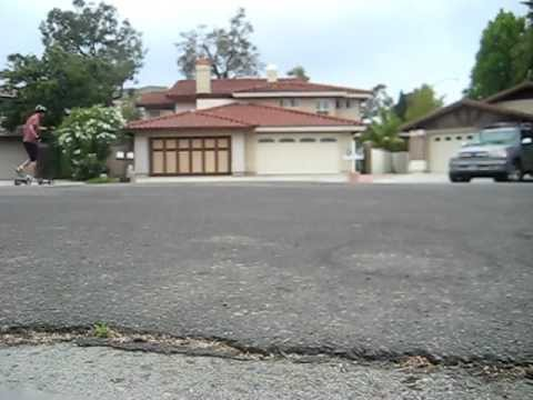 Mountain Boarding on my street in San Diego California