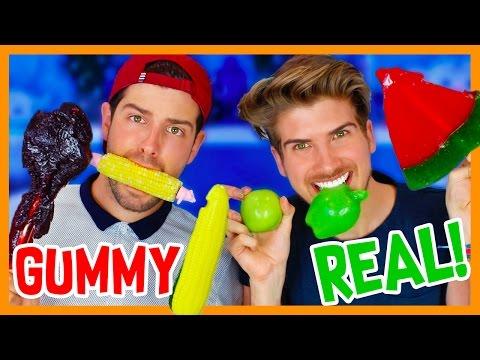 GUMMY FOOD vs. REAL FOOD 3! (видео)
