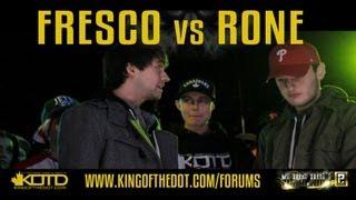 KOTD - Rap Battle - Fresco vs Rone