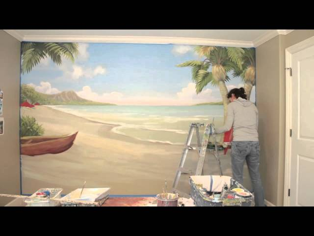 Waikiki Beach Time Lapse Mural