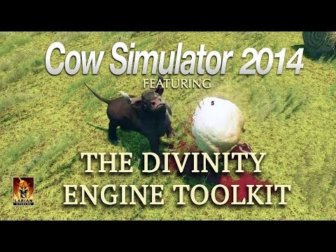Now Available on Steam Early Access: steamcommunity.com/app/230230  Cow Simulator 2014 is perhaps the finest cow simulation ever released. It serves as an example mod for would-be creators and permits users to play as a cow (even in co-op with up to 4 pla