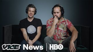 "The Killers' Brandon Flowers and Ronnie Vannucci, Jr. review new music, and make a plea to join The War on Drugs in VICE News Tonight's Music Corner.Fleet Foxes, ""If You Need To, Keep Time On Me""Death From Above 1979, ""Freeze Me""Major Lazer ft. J Balvin & Sean Paul, ""Buscando Huellas""Portugal. ""The Man, So Young""The War On Drugs, ""Holding On""Subscribe to VICE News here: http://bit.ly/Subscribe-to-VICE-NewsCheck out VICE News for more: http://vicenews.comFollow VICE News here:Facebook: https://www.facebook.com/vicenewsTwitter: https://twitter.com/vicenewsTumblr: http://vicenews.tumblr.com/Instagram: http://instagram.com/vicenewsMore videos from the VICE network: https://www.fb.com/vicevideo"