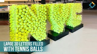 3D NYC Acrylic Letters with tennis balls