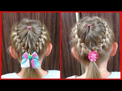 Разные причёски для девочек для средних волос