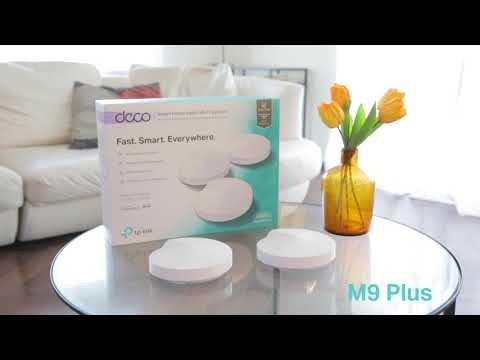 TP-LINK AC2200 DECO M9Plus Domači Wi-Fi sistem (2 pakiranja)