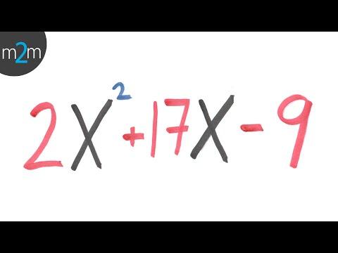 Faktorisierung von Polynomen zweiten Grades ax² + bx + c