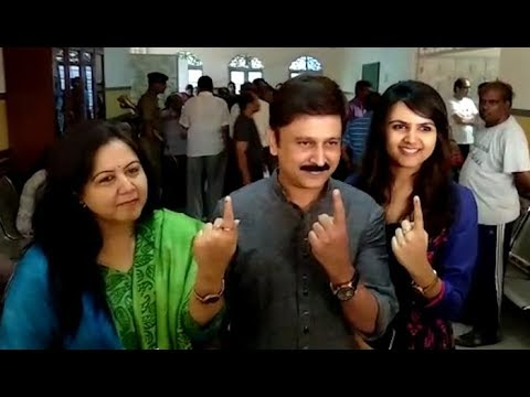 Video Ramesh Aravind and family cast their votes download in MP3, 3GP, MP4, WEBM, AVI, FLV January 2017