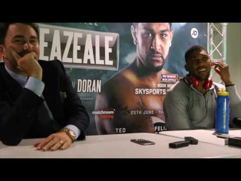 Watch: Anthony Joshua v Dominic Breazeale post-fight presser