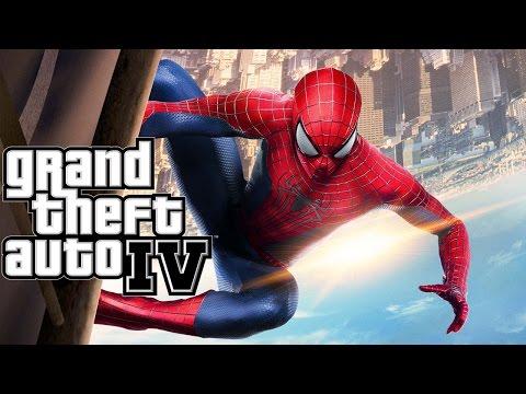 SpiderMan Powers in GTA 4 (mods)