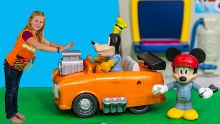 ASSISTANT Disney Mickey and the Roadster Racers Goofy  Pit Stop Tools Set  Toys Video
