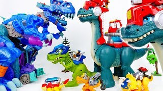 Video The Battle Between Giant Dinosaurs~! Chomp Squad Blaze Asaurus - ToyMart TV MP3, 3GP, MP4, WEBM, AVI, FLV Oktober 2018