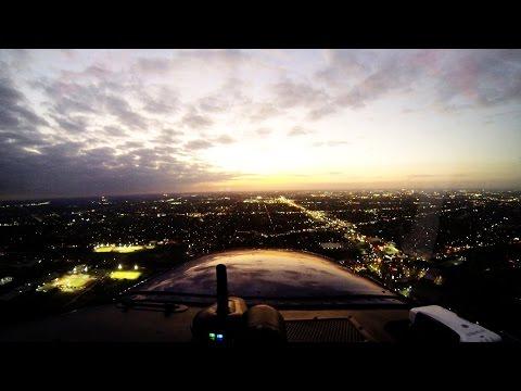 Sunset Cross Country | Cessna 172 | ATC Audio