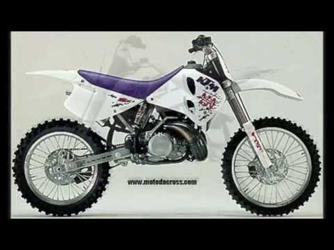 Evolution of KTM sx-250 from 1973 to 2014.