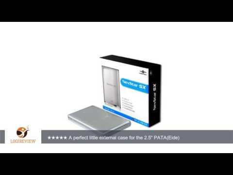 Vantec NexStar SX NST-285U2-SL 2.5-Inch IDE to USB 2.0 External Hard Drive Enclosure (Metallic