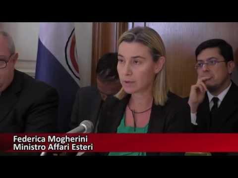 Il ministro Mogherini all'Istituto Italo Latino Americano