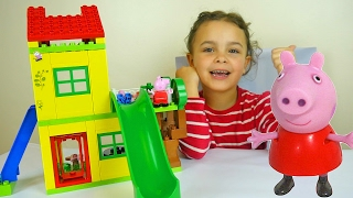 Video Peppa Pig Toy House Building Sets with Kinder Surprise Eggs and Play Doh Peppa Dough MP3, 3GP, MP4, WEBM, AVI, FLV Oktober 2017