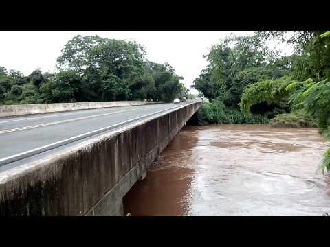 BR 153-Nível Rio das Cinzas no limite em Guapirama