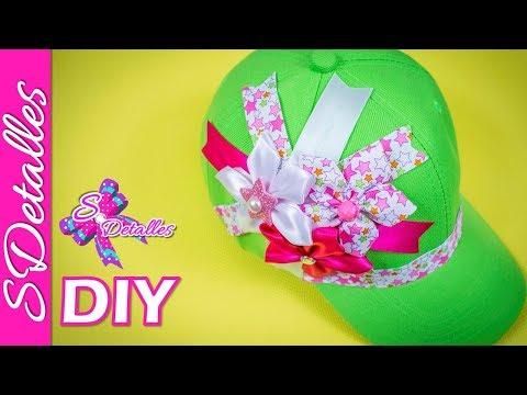 Como decorar una Gorra: Gorra Decorada #1   Video# 55   SDetalles   DIY