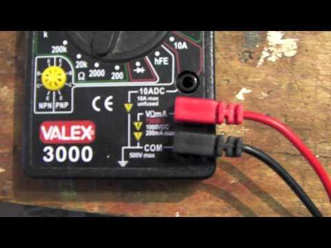 Come usare il tester elettrico per misurare la corrente 220v