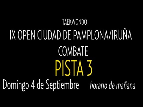 Open Internacional Pamplona. Domingo Pista 3