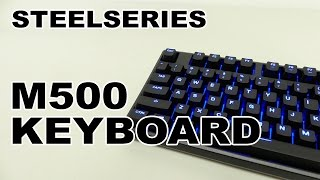 At under $100 the SteelSeries Apex M500 Gaming Mechanical Keyboard is impressive. The per-key blue LEDs looks great and there's illumination options, it has cherry MX red gaming switches and there's full anti-ghosting support as well as N-Key roll over. Also, it's fully programmable, is fairly compact, durable and looks great. ~#1791 SteelSeries Apex M500 Gaming Mechanical Keyboard Video Review Purchase: https://steelseries.com/gaming-keyboards/apex-m500Price Grabber: http://3dgameman.pgpartner.com/search_getprod.php?masterid=714995043&search=SteelSeries+Apex+M500&rd_type=MInfo/Comments: http://3dgameman.com/reviews/1791/steelseries-apex-m500-gaming-mechanical-keyboardFor sponsorship and other inquiries, please email gameman@3dgameman.comSOCIAL:Facebook: https://www.facebook.com/3dGameManTwitter: https://twitter.com/3dGameManSteam: http://steamcommunity.com/groups/3dGameManThanks for liking, subscribing and sharing :)