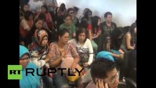 QZ8501: Relatives Await News Of Missing AirAsia Flight At Juanda Airport, Surabaya