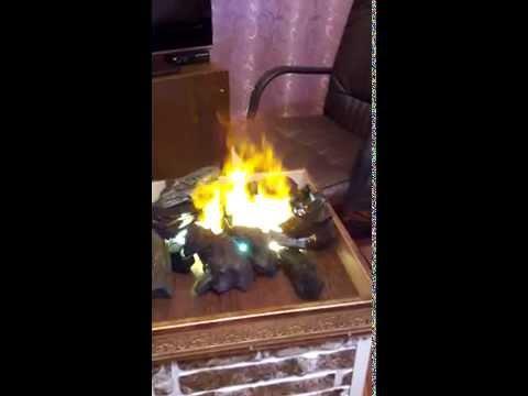 Как сделать эффект пламени в камине своими руками