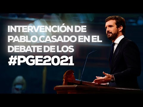 Pablo Casado interviene en el pleno del debate de los Presupuestos