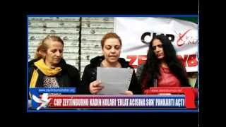 CHP ZEYTİNBURNU KADIN KOLARI 'EVLAT ACISINA SON' PANKARTI AÇTI