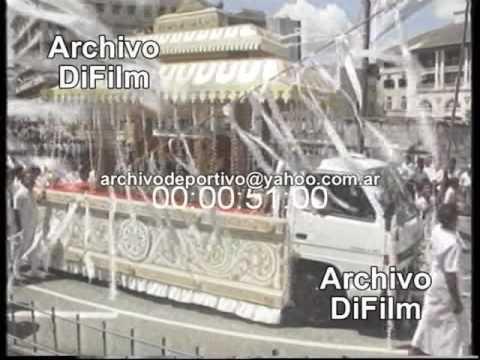 Funeral del Presidente de Sri Lanka Dingiri Banda Wijetunga - DiFilm (1993)